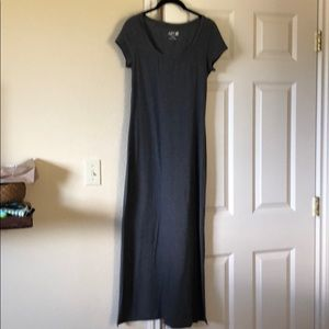 Apt 9 Long Grey Cotton Maxi Dress